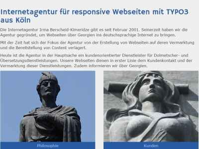 Referenz Thomas Berscheid - Relaunch Webseite Agentur IBK TYPO3 7.6 Extension Extbase Fluid Slider jQuery CSS TypoScript responsiv Datenbanken Blog Suchfunktion Formular