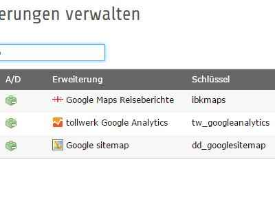 Google Maps Einbindung TYPO3 Extension in Root Template ✔ Typoscript ✔ Extbase und Fluid ✔ Plugin Backend Einbindung ✔ HTML Element Datenbank ✔ Flexforms