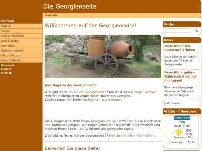 Georgienseite 2014 TYPO3 Layout Frontend update relaunch TYPO3 LTS6 PHP mySQL Extensions Extbase Fluid SEO Köln HTML5 jQuery CSS3 Referenz Thomas Berscheid